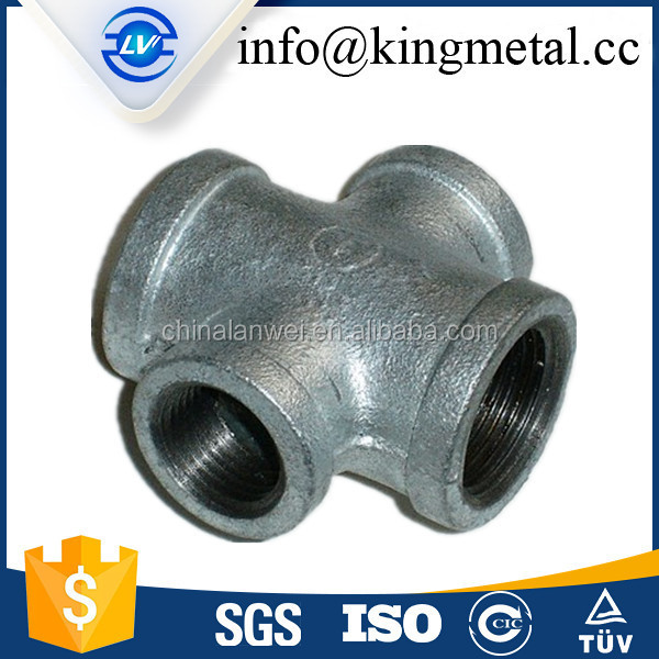 Shopping website galvanized iron pipe branch tee fitting for air supply