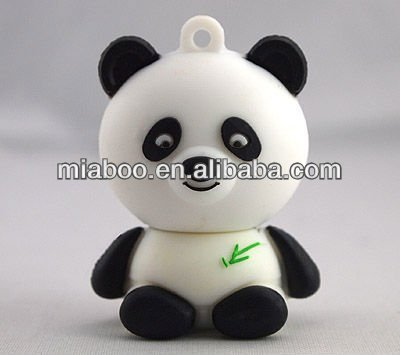 2013 lovely panda usb 2.0 flash drive PVC panda pendrive original chips