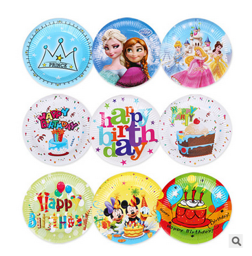 kids party supplies Disposable custom plates palm leaf plates, rectangular paper plate raw material