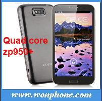 ZOPO ZP950+ Smart Phone MTK6589 Quad Core 5.7 Inch IPS HD Screen 5.0MP Front Camera 1G 4G high quality!