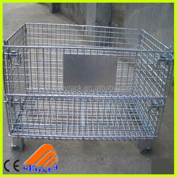 ce certificate designed used rabbit cages for sale,stackable metal crates,wire mesh storage baskets