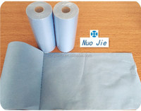Dyed perforated nonwoven wipe