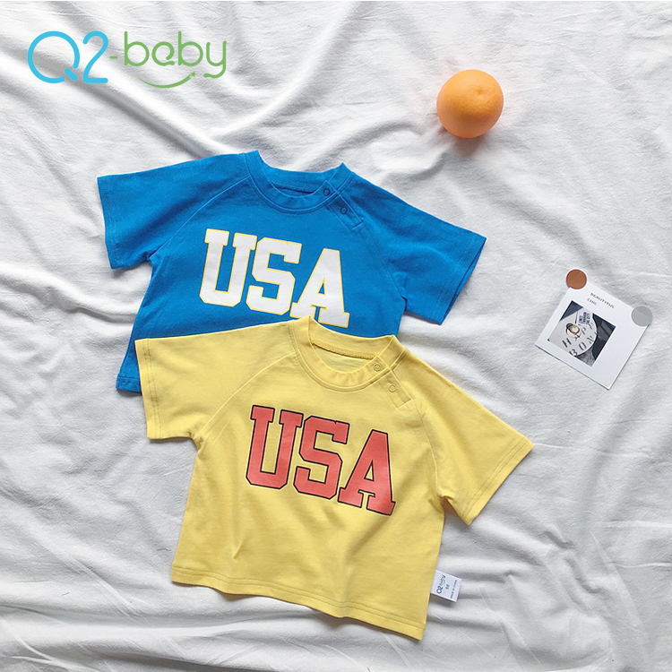 Q2-baby Wholesale Korea Style Fashion Baby T Shirts For Boys