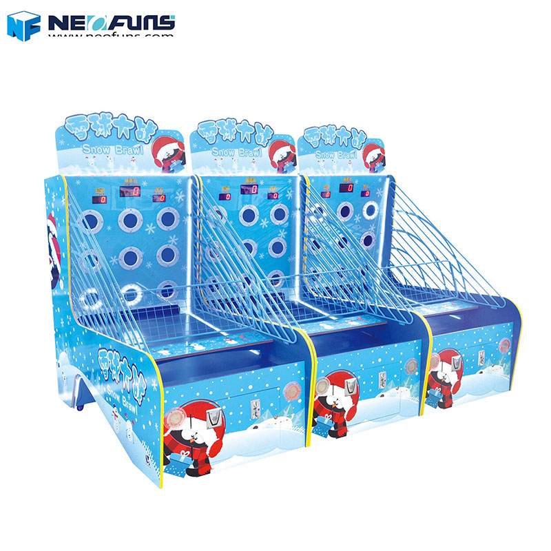 Neofuns Snow Brawl Fight Ball Shooting Game Machine Lottery Ticket Game Machine for Kids