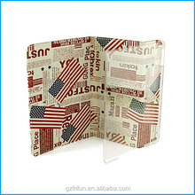 Retro designed canvas stand case for iPad air 5-flag
