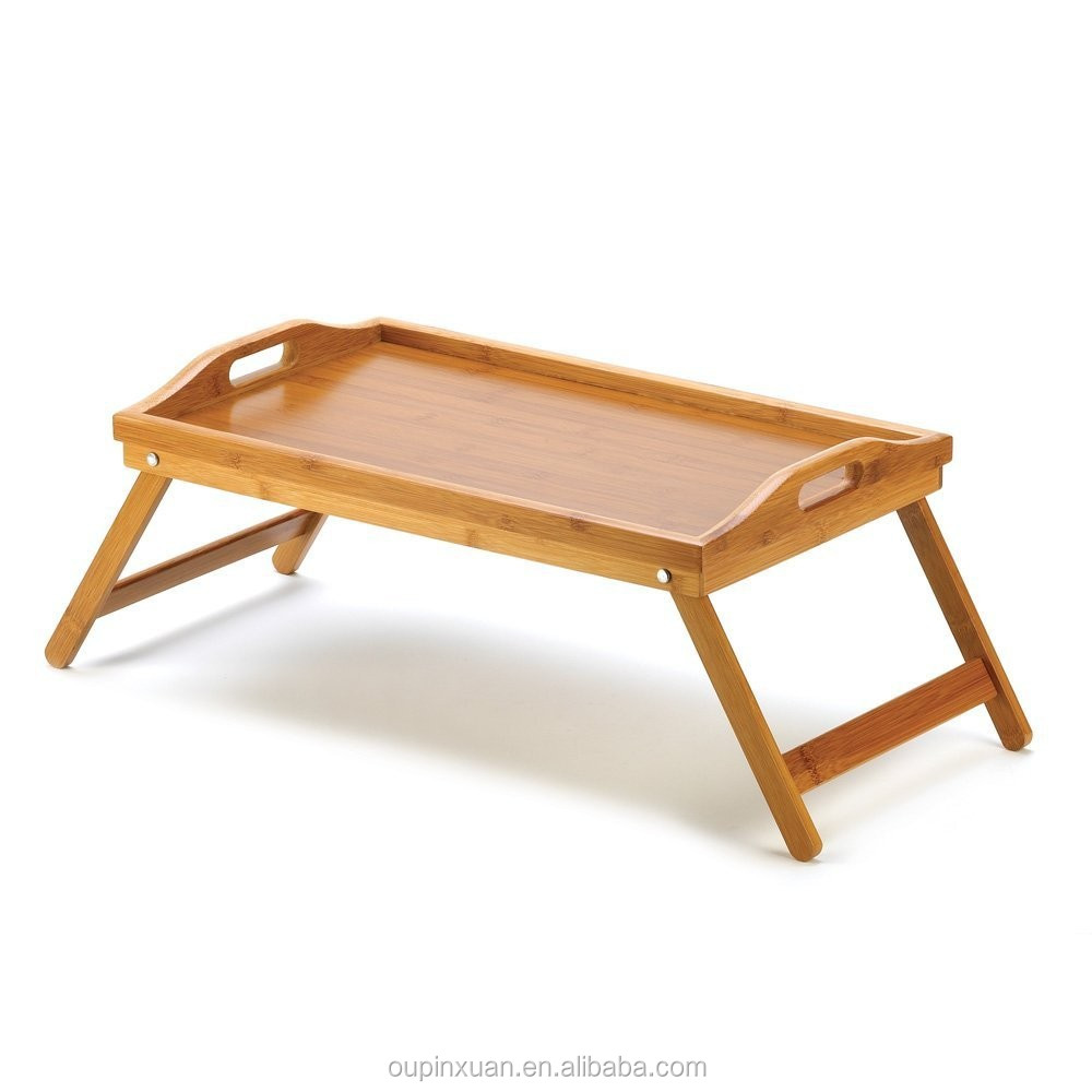 Cute folding bamboo lap tea table,Japanese dining table
