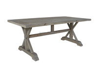 French Style Furniture (Elm dining table D1606)