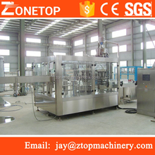Full automation 3in 1 monobloc square pet plastic bottle water manufacturing process