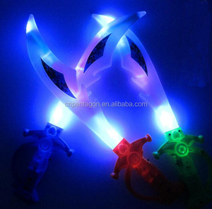 New Promotion items light up swords Led Flashing toys