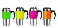 480ml Stainless Steel double wall Travel Mug with handle