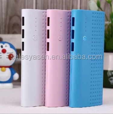 3usb Power bank 20000mAh 3 USB backup Power bank Universal external battery