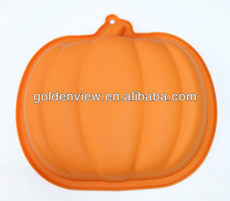 large Halloween pumpkin vegetable shaped silicone cake pudding jelly baking pan mold mould mode bakeware