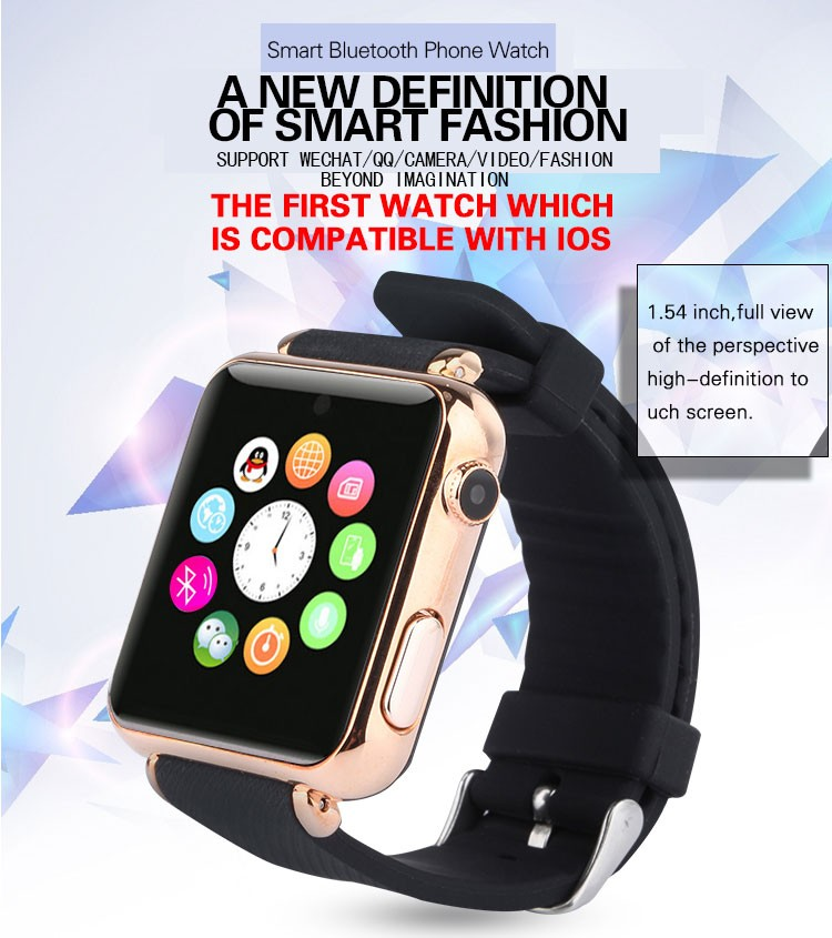 2016 new style 4.0 touch screen smart Bluetooth watch support IOS phone and Android phone