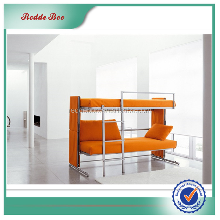 <strong>orange</strong> and white leather sofa bed