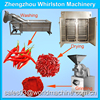 stainless steel dried chilli powder making machine/fruit vegetable drying machine price