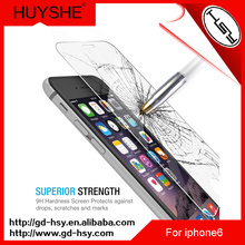 HUYSHE 9h hardness custom made tempered glass screen protector for iphone 6 6s