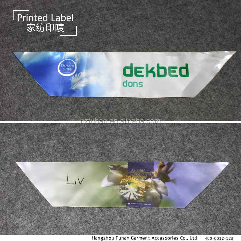 High Quality Custom Home Textiles Labels with Printed Logo