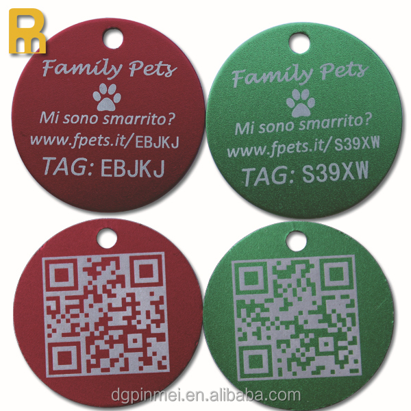 High class quality QR code dog tag/pet tag pendant for dogs/cats