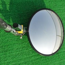 Inspection mirror with led light