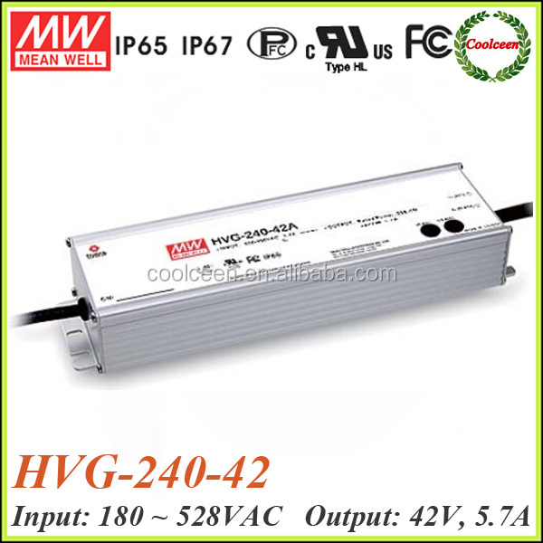 Meanwell HVG-240-42 240w 0-10v dimming led driver