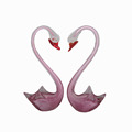 Pink color elegant Murano glass swan