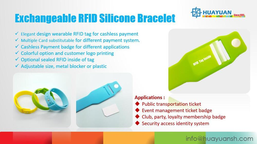 Payment solution Custom Wearable Silicone smart wristband with insert slot with EMV mini card
