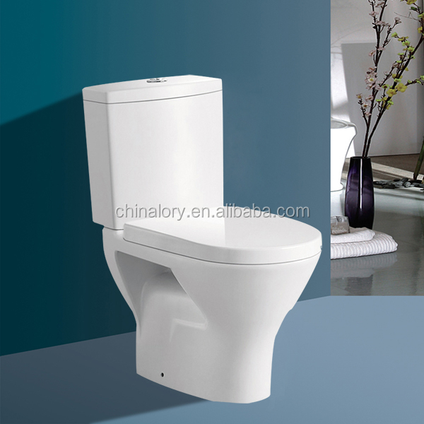 2015 new product sanitary ware washdown two piece toilet hot sale
