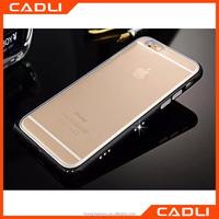 Wholesale For Apple iphone4/4s Shiny diamond aluminum bumper case+TPU back cover phone case