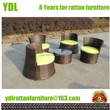 YDL Outdoor Garden Patio set Dining Table Chair sets plastic outdoor resin wicker chairs