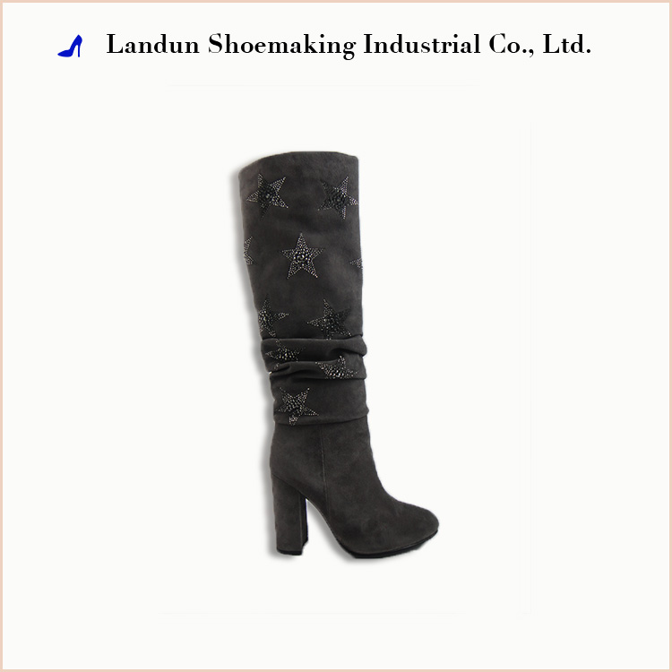 Top grade lady high heel fashion boot women shoes