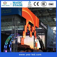 fx p4 indoor video led curved screen for stage rental