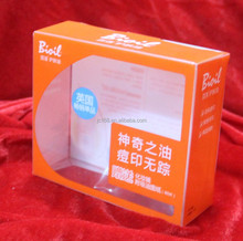 customized pet large artical packaging plastic box with window