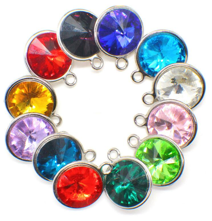 2017 Zodiac dangle Jewelry birthstone charms pendant In stock hanging charms