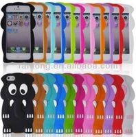 wholesale cell phone case amimal silicone case for iphone 5,many models