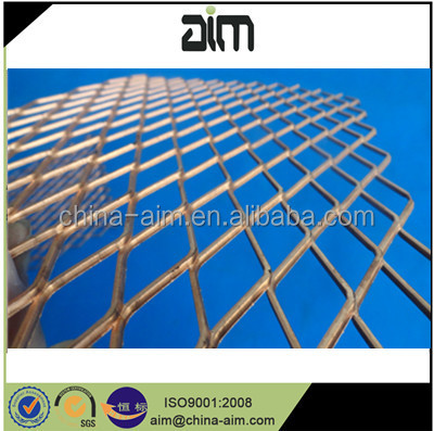 Diamond Mesh Copper/Titanium Expanded Metal sheet/ mesh