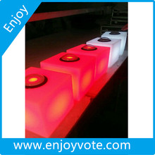 Judges voter light cube, vote for player , cube buzzer with voting features