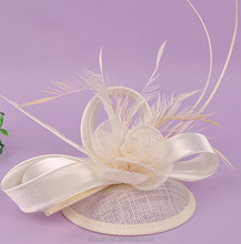 Women Wedding Feather Accessories Wholesale Lady party Fascinator Hat