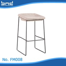 Fabric club bar high stool chair with footrest FM008