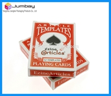 excellent quality paper carton playing card