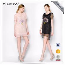 Short Sleeve Printing Buckle T-Shirt Dresses Casual