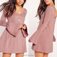Latest Modern Bell Sleeve Skater Women Dresses Wholesale Women Clothes