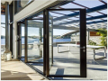 Commercial Exterior Accordion Folding Glass Doors/ Bi folding doors