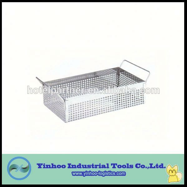 Stainless Steel Storage Mesh Box With Handles For Parts Manufacturers