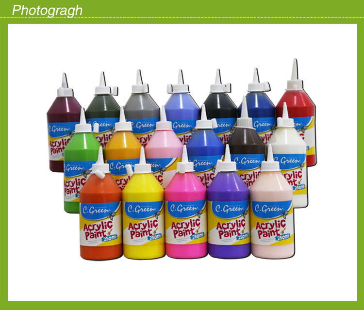 Christmas gift CGREEN Top sale Colorful acrylic finger paint, Acrylic paint marker