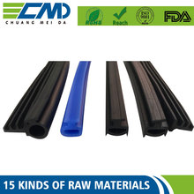 Good Friction Surface Epdm Round / Square Profile Rubber Seal For Glazing