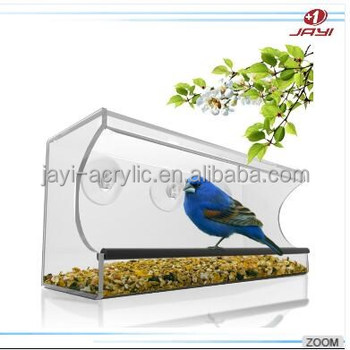 China Manufacturer Wholesale Acrylic Bird Feeder
