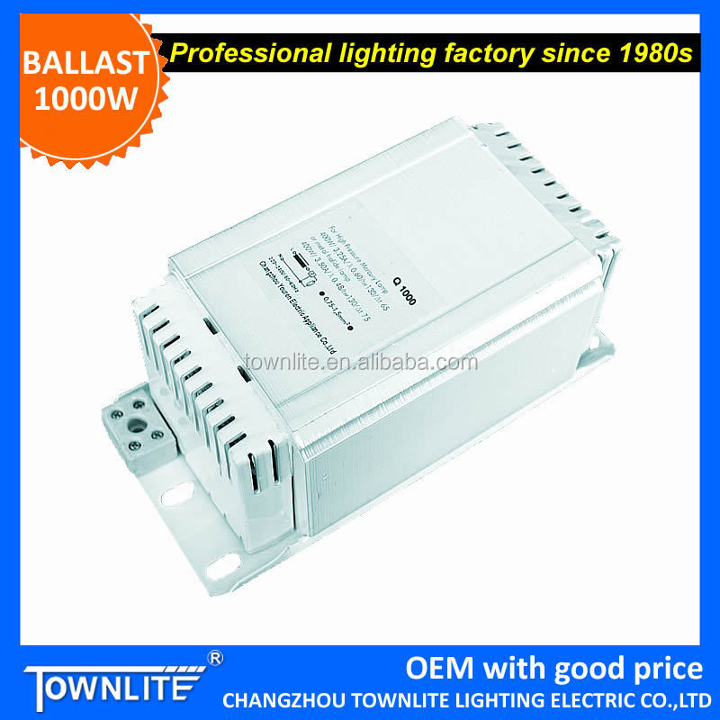 HPS ballast 1000W, magnetic ballast 1000 watt for sodium lamp