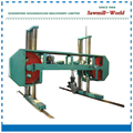 horizontal wood band sawmill band sawmill with diesel engine large log cutting horizontal band saw