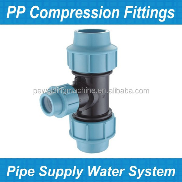 Plastic High Pressure PP HDPE Compression Fitting for PE Pipe