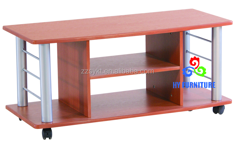 Used living room tv stand designs wooden tv racks with wheels wholesale